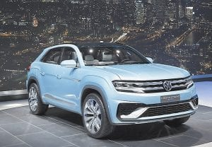 The Volkswagen Cross Coupe GTE Concept was shown at media previews for the North American International Auto Show in Detroit earlier this week. (AP Photo)
