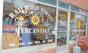 CLOSING SOON — Whitesburg businesswoman Kae Fisher will close Railroad Street Mercantile rather than continue to fight all of the battles truly small businesses now face on a daily basis. The small general store on East Main Street will close January 31. (Eagle photo)