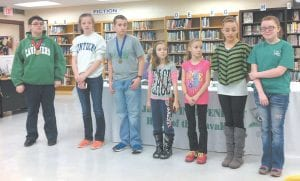 Members of the Jenkins Middle School Academic Team were honored at the January meeting of the Jenkins Independent Board of Education. Among those students attending the meeting were (not pictured in order) Jamie Hall, Jacob Bentley, T.J. Thompson, Abigail Bentley, Miranda Milam, Julie Kiser, and Makala Stambaugh.