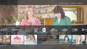 This image provided by Sling TV shows a view of the network miniguide on the Sling TV app. The Sling TV service is aimed at people who have dropped cable or satellite service or never had it. (AP Photo/Sling TV)