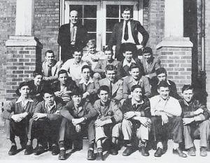 Pictured is the 1947 Fleming-Neon High School Hi-Y Club: (first row, left to right) Joe Wise, John Welch, Leroy Fulton, Nikey Hazen, Lester Ray Craft, Adeliah Davidson, Bobby Burkich, (second row) Jerry Tucker, Dan Blair, John Butler, Jimmy Caudill, Edd McKinney, Jack Stallard, (third row) Frankie Lee Hale, Elmer Trinkle, Jimmy Preston, Charles Whitaker, Jack Peters, Mitchell Meade, (back row) Coach Sullivan and Mr. Reason. (From the 1947 Fleming High School Yearbook)