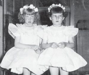 Pictured a long time ago are Sherry Hatton, daughter of Tommy and Elizabeth Hatton, and Shannon Banks, daughter of Ruth and Eli Banks.