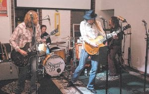 """STEEPWATER LIVE — The Steepwater Band, from left Eric Saylers, Joe Winters, Jeff Massey and Ted Bowers, performed at Summit City in Whitesburg Feb. 6. The band, touring behind its new album """"Diamond Days: The Best of The Steepwater Band 2006-2014,"""" will play this week in Phoenix and Los Angeles. (Photo by Thomas Biggs )"""