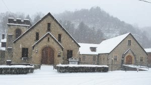 The Graham Memorial Presbyterian Church in Whitesburg was postcard perfect Monday afternoon as snow continued to fall.