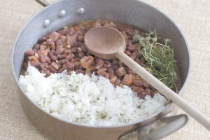 Red beans and rice. This is from a recipe by Melissa d'Arabian. (AP Photo/Matthew Mead)