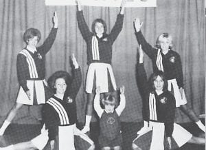 The Fleming-Neon High School cheerleaders for 1968 were Allenda Long, Patty Slone, Judy Little, Debbie Presnell and Linda Kay Lemaster.