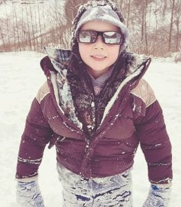 Brackstyn Baker of Craft's Colly and other children may have to get their snow gear back out this week if weather forecasters are correct in their predictions for more snow accumulation.