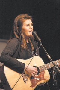 Taylyn Combs is one of several local musicians who has helped raise funds for the family of Luke Polly, the eightyear old boy who is improving, but still faces a long battle with leukemia. (Photo by Thomas Biggs)