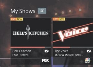 This screen shot image provided by Sony Computer Entertainment America shows part of the My Shows portion of the Sony PlayStation Vue interface. (AP Photo)