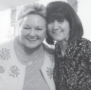 Vickie Hatton Underwood and JoAnn Howard Brown are pictured together in March. It was the first time the two had seen each other in 48 years.
