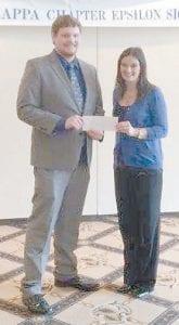 Scholarship recipient Addison Whitaker is pictured with Natasha Lucas, president of University of Kentucky's Alpha Kappa Chapter of Epsilon Sigma Phi.
