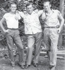 BROTHERS — Pictured are the late Clyde Hatton, Maney Hatton and Tommy Hatton.
