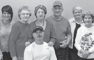 Pearl and Charles Noble pose for a picture with their daughter Jennifer and David Holbrook, Linda Hall, Dorothy Tackett and daughter Jeanette Yonts.