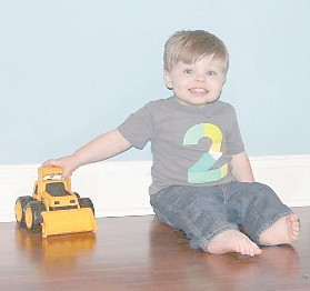 """— Andrew Miller will turn two years old on May 11. He is the son of Tim and Susan Miller of Whitesburg. The """"new 2"""" is the grandson of Tick and Diane Lewis, also of Whitesburg, and Jessie Miller of Jenkins and the late Yvonne Miller."""
