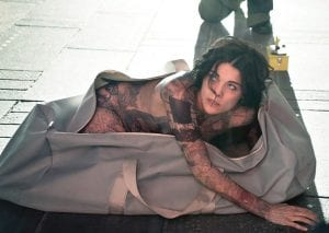 """This photo provided by NBC shows Jaimie Alexander as Jane Doe in a scene from NBC's new series, """"Blindspot."""" (NBC via AP)"""