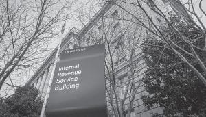 The Internal Revenue Service Headquarters (IRS) building is seen in Washington. Thieves used an online service provided by the IRS to gain access to information from more than 100,000 taxpayers, the agency said Tuesday. (AP Photo)