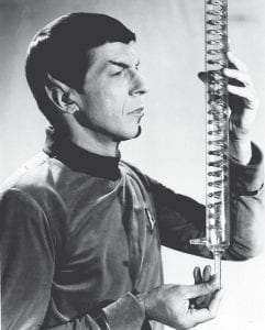 With 'Star Trek' airing its final episode on NBC on June 3, 1969, actor Leornard Nimoy will no longer be irritated by his makeup. Nimoy, the half-Vulcan, halfearthling scientist Spock of the television series is shown in this May 11, 1967 photo. His pointed ears were built up with bits of plastic, and no matter how carefully it was done, the ears were rubbed sore as he moved. (AP Photo)