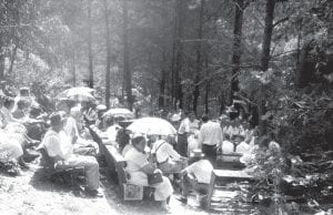 Alan Lomax recorded this gathering in Blackey in the early 1960s.