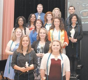 Pictured are (front row, from left) Sarah Elizabeth Belcher of McRoberts, Clarissa LaShea Dotson of Phelps, (second row, from left) Chasity LaDawn Coleman of Pikeville, Morganne D. Robinson of Jackson, (third row, from left), Asha D. Reed of Chicago, Ill., Hannah L. Lucas of Thornton, Caitlyn Elizabeth Dixon of Hazard, (fourth row, from left) Elizabeth Louise Chambers of Hardy, Virginia Grace Runyon of Belfry, Henrietta J. Mullins of Pikeville, (fifth row, from left) Troy Edward Whitaker of Hurricane, W.Va., Hope Danell Marie Wilson of Hyden, and Eric Silas King of Neon.