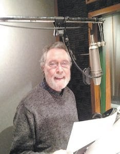 This recent view of Robb Webb at work on a voiceover project was shared on the social media website Pinterest.