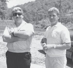 Rob Hatton, son of Whitesburg correspondent Oma Hatton, is pictured with Tom Howard, son of the late Bernie and Russell Howard.