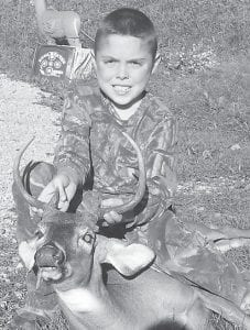 — Matthew Morris, 9, of Dry Fork, harvested a six-point buck, his first deer, Oct. 11 at Dry Fork. Matthew is a fourth-grade student at Cowan Elementary School. He is the son of Maranda and Mike Morris and has a younger sister, Makayla Morris, 7. His grandparents are Angie Morris of Dry Fork and the late Dale Morris, and Olga and Fred Atkins of Smoot Creek.