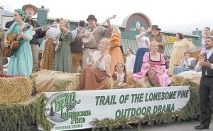 Pictured is the 2015 cast of The Trail of the Lonesome Pine Outdoor Drama.