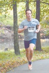 Paul Wilson runs in a 5K race in Big Stone Gap on Oct. 10. (Photo by Ron Flanary)
