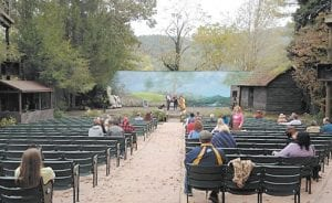 """A couple of scenes of """"Big Stone Gap"""" were filmed at the outdoor theater pictured above. People ate lunch and listened to music on Oct. 10 during a reunion of movie extras."""