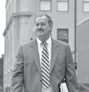 Ex-Massey CEO Don Blankenship is seen leaving his trial recently. (AP)