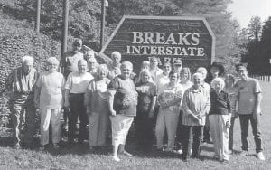The Ermine seniors visited the Breaks of the Mountain and had a wonderful day. They saw a small deer and had lunch at the lodge. Pictured are Estil Taylor, Shirley Maggard, Carl Parrott, Judith Vermillion, Lorraine Kuracka, Lizzie M. Wright, Rosa Collier, Sharon Amburgey, Andrew Sexton, Iona Noble, Sue Sexton, Brenda Susie Childers, Sy Collins, Coleene Hart, Rhuford Hart, Juanita Banks, Jim Craft, Dewey Bradley, Debbie Bradley, Elsie Adams and S.T. Wright.