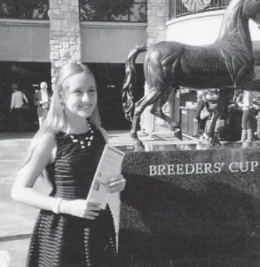 — Sixth-grader Lauren Wash, 11, of Lawrenceburg, is the daughter of Ben and Adrienne Spangler Wash and granddaughter of Johnny and Lula Caudill of Whitesburg. She sang the National Anthem at Keeneland on Oct. 11. From 200 entries, 10 singers were chosen to perform. Lauren was the youngest singer chosen. She now has the chance to perform the National Anthem during the Prelude to the Cup Oct. 30. Her performance will be featured on the racetrack's website, Keeneland.com, along with the nine others who sang. The singer who receives the most on-line votes will perform at Prelude to the Cup. Voting is taking place now.