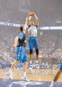 Freshman Skal Labissiere could be the biggest cut-up on this year's Kentucky team based on what teammates say. He could also be the top pick in the 2016 NBA draft. (Photo by Vicky Graff )