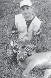 — Makenzie Baker, 9, harvested a three-point buck at the Youth Hunt Oct. 10 in Letcher County. She is a fourth-grade student at West Whitesburg Elementary School and is the daughter of Melissa Collins of Craft's Colly.