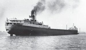 A 1959 file photo shows the Great Lakes freighter Edmund Fitzgerald, which disappeared November 10, 1975, in a storm on Lake Superior. The Great Lakes have claimed some 6,000 ships since European explorers began navigating the waters in the 1600s, but few have captured the public's imagination as has the Edmund Fitzgerald. (AP Photo)