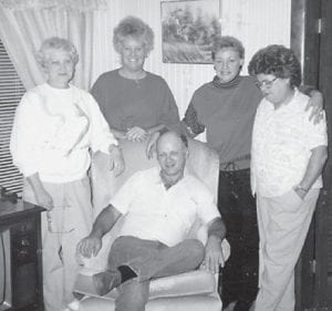 NAPIERS — Pictured are (standing, left to right) Laura Napier Holland, Margaret Hatton Combs, Alicia Napier Staley, Norma Napier and (seated) Ernie Napier. The Bill and Mary Napier family is formerly from Marlowe.