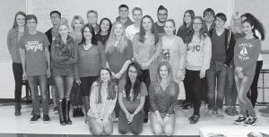 German exchange students who visited Letcher County Central High School in October and some of their hosts are (front row, left to right) Grayson Collier, Mai Tran, Annika Nestler, (middle row) Max Illig, Raeann Fultz, Alexis Gibson, Kaitlyn Davis, Isabel Notzold, Elaine Winkler, Sophie Horbach, Sebastion Staude, Jasmine Kirschke, (back row) Kaitlyn Fields, Thang Do Manh, Baleigh Dotson, Ronja Sciretta, Sara Coots, Paul Schmidt, Jonathan Eichin, Dustin Hall, Catharina Zeh, Christorpher Robin Schulz, Melanie Weber and Celine Wolf.