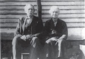 James Tairl (J.T. or Jeems ) and Margarette Fields Smith taken at their old homeplace at Jeremiah. Photo courtesy Delana Pridemore Banks.