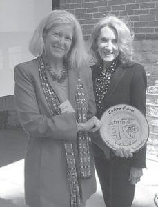 Holly Wiedemann of AU Associates is pictured with Linda Bruckheimer. Wiedemann is a recipient of the Linda Bruckheimer Excellence in Rural Preservation Award.