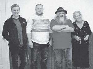 — Pictured are four generations of the Hatton family. From left to right are Beau Hatton, Chris Hatton, Larry Hatton and Great-grandmother Oma Hatton.