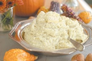 This photo shows brown butter rosemary mashed potatoes. We started by creating a master recipe for basic, buttery-creamy mashed potatoes that are delicious just as they are. We also offer you six ways to jazz up our basic recipe. (AP Photo/Matthew Mead)