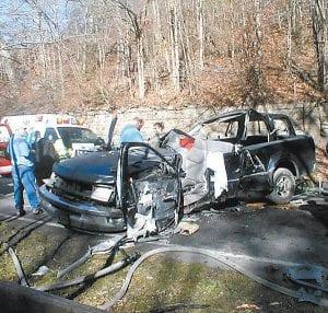At crash scene November 20.