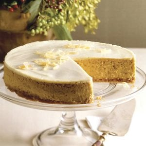 """This photo from Good Housekeeping shows """"Favorite Pumpkin Cheesecake."""" The magazine says the recipe is """"quite possibly our best cheesecake recipe yet."""""""