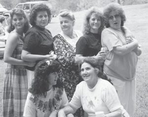 """""""This picture was taken at a long ago Howard family reunion,"""" says Whitesburg correspondent Oma Hatton. """"In the picture are Kim Lucas, Louise Shepherd, our mom the late Cinda Howard, Judy Green, Kathleen Brock, Joanne Brown and Oma Hatton."""""""