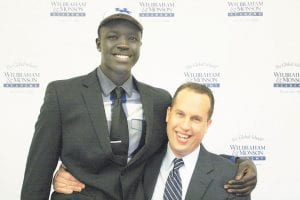 UK signee Wenyen Gabriel and coach Mike Mannix will be in Lexington Saturday night for a game at Dunbar High School. Mannix said Gabriel put in NBA-like workouts to improve his game after last season.