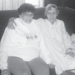 Pictured are the late Edith Williams Majority, daughter of the late A.P. Williams and a Mountain Eagle correspondent for many years, and Mary Majority, who also wrote for The Mountain Eagle.