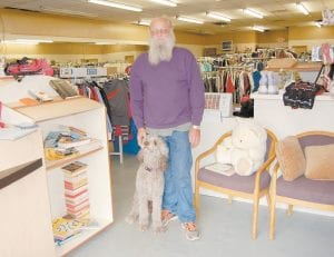 Ed Angell and his wife, Debbie, operate Grace Closet on East Main St. in Whitesburg.