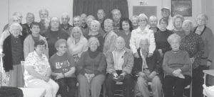 The Ermine Center senior citizens pose for a picture.