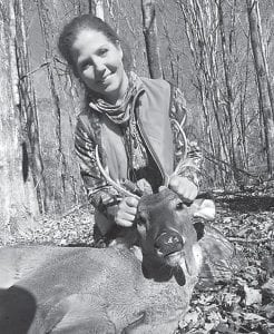 Abigail Maggard, a member of Letcher County's Wildlife Women, took this nice trophy-sized buck near season's end.