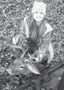Emileigh Boggs, the 13-year-old daughter of Wade and Crystal Boggs of Millstone harvested this nice buck recently.